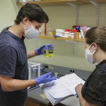 Widing and Elana Stennett in lab KColton