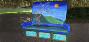 A bench on the grounds of RMSC.